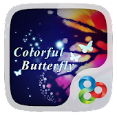 Colorful Butterfly GO Theme