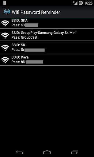 Wifi Password Reminder