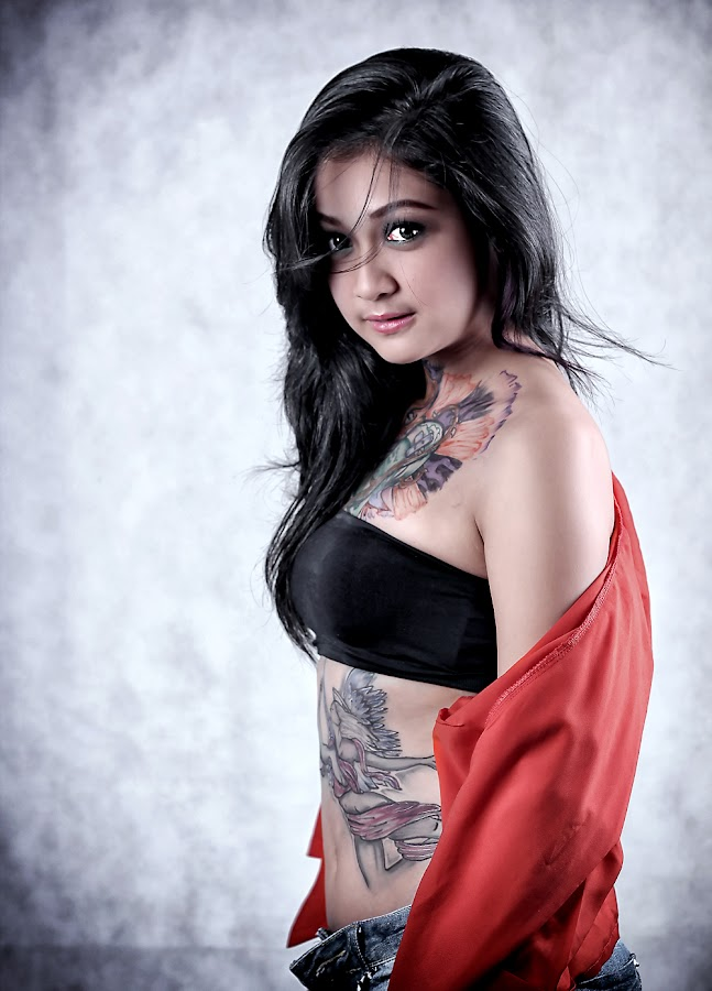 show my tattoos by Indra KukurYuk - People Body Art/Tattoos