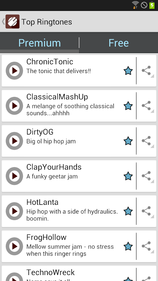 Tonecrusher Free Ringtones- screenshot