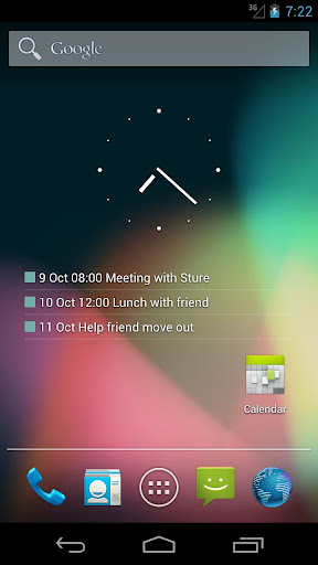 Transparent Calendar Widget