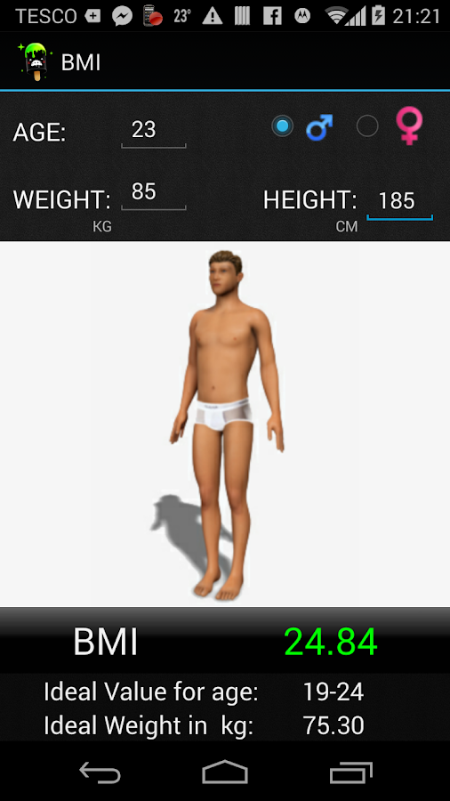 BMI 3D Calculator - screenshot