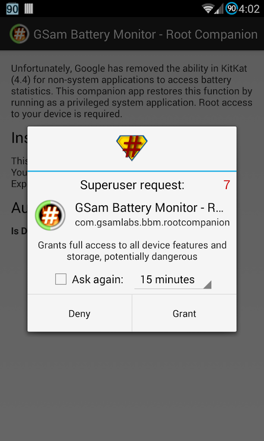 GSam Battery - Root Companion- screenshot