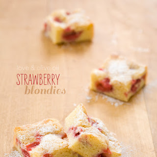White Chocolate Strawberry Blondies.