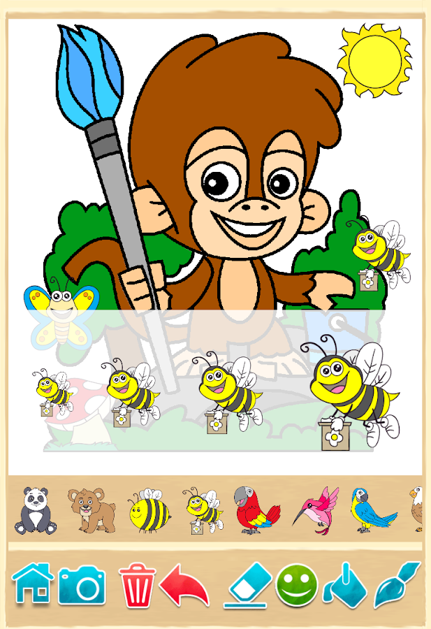 animal coloring pages screenshot - Animal Coloring Games