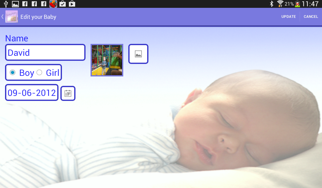 Your Baby App (baby - parents)- screenshot