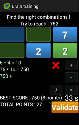 Brain training  screenshots 2