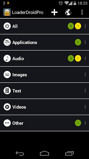 Loader Droid download manager  screenshots 2