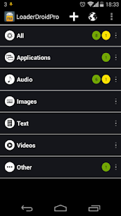 Loader Droid download manager Capture d'écran