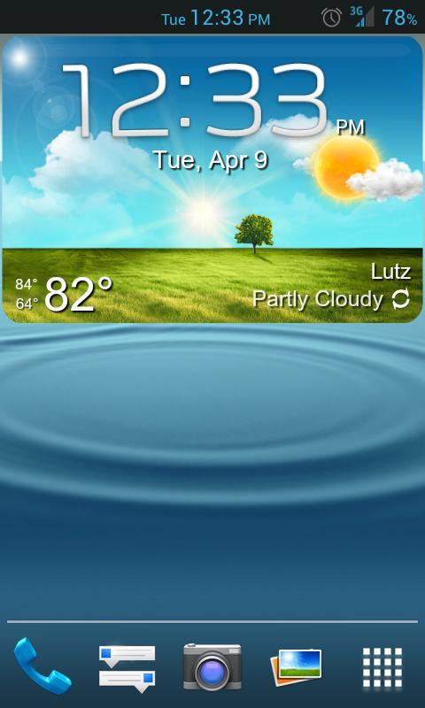 GS3 ish Weather (a UCCW Skin) - screenshot