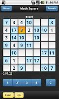 Screenshot of Math Square
