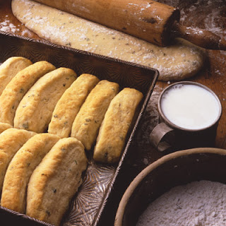 Parmesan Butter Pan Biscuits.