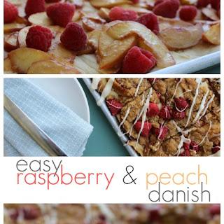 Easy Raspberry & Peach Danish