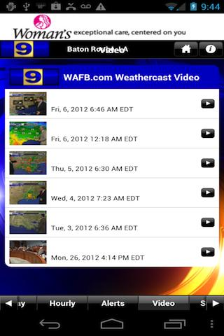 WAFB 9 Storm Team Weather - screenshot