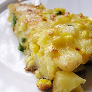 Frittata with Corn, Scallion, and Potato Recipe
