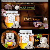 Animated Bear Clock Widget