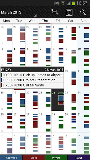 Screenshot for Business Calendar Pro in United States Play Store