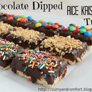 Chocolate Dipped Rice Krispies Treats.