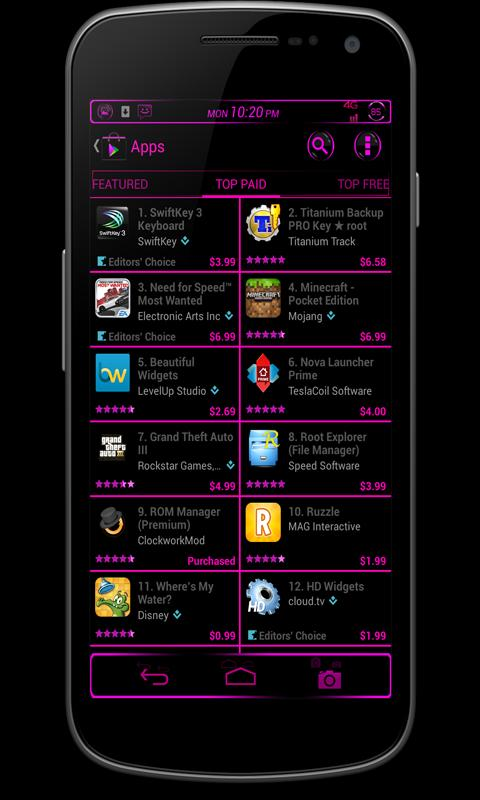 CM10 JB Theme: B-BLAST FREE - screenshot