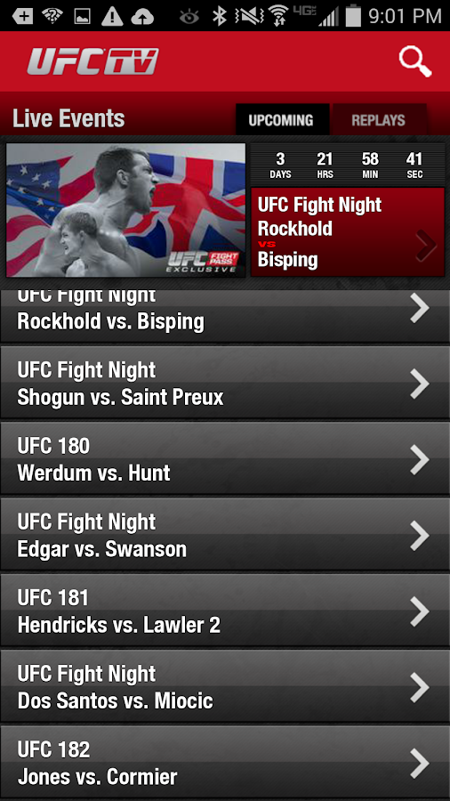 UFC.TV & UFC FIGHT PASS - screenshot