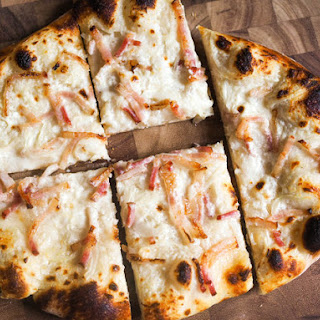 Classic Tarte Flambée (Alsatian Pizza With Fresh Cheese, Onions, and Bacon)