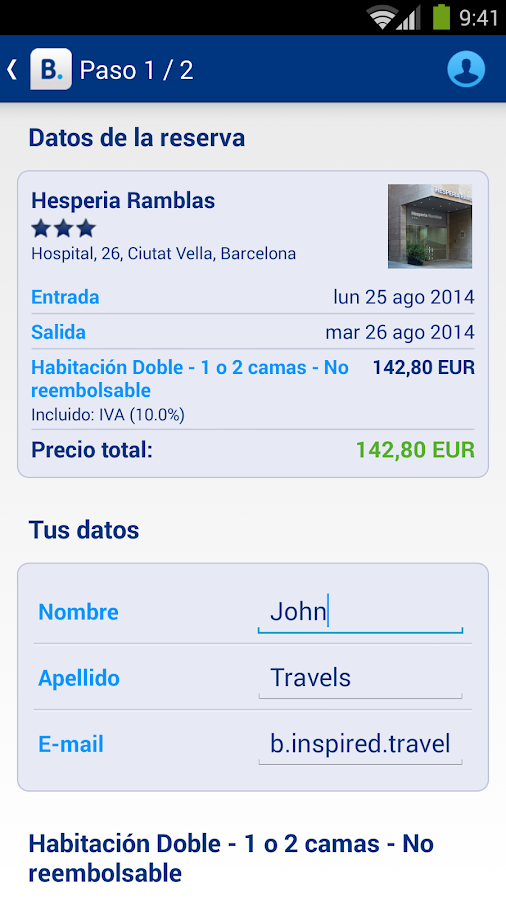 Booking.com: +445.000 hoteles - screenshot