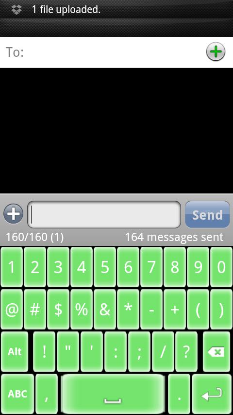 Soft Green Keyboard Skin - screenshot