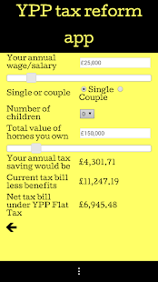 YPP Tax Reform App- screenshot thumbnail
