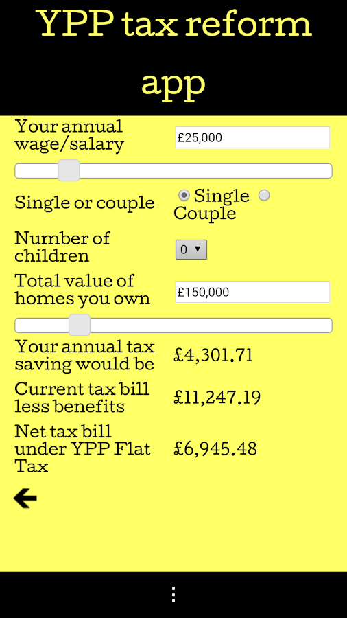 YPP Tax Reform App- screenshot
