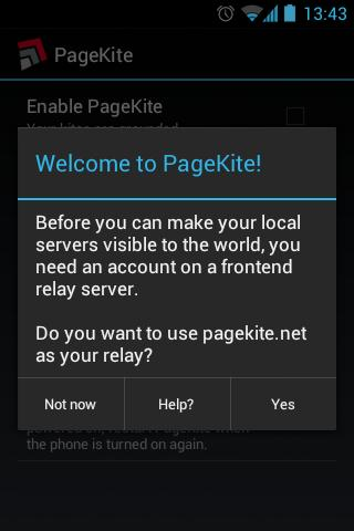 PageKite - screenshot