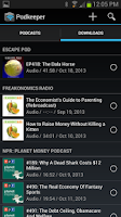 Screenshot of Podkeeper Free podcast player