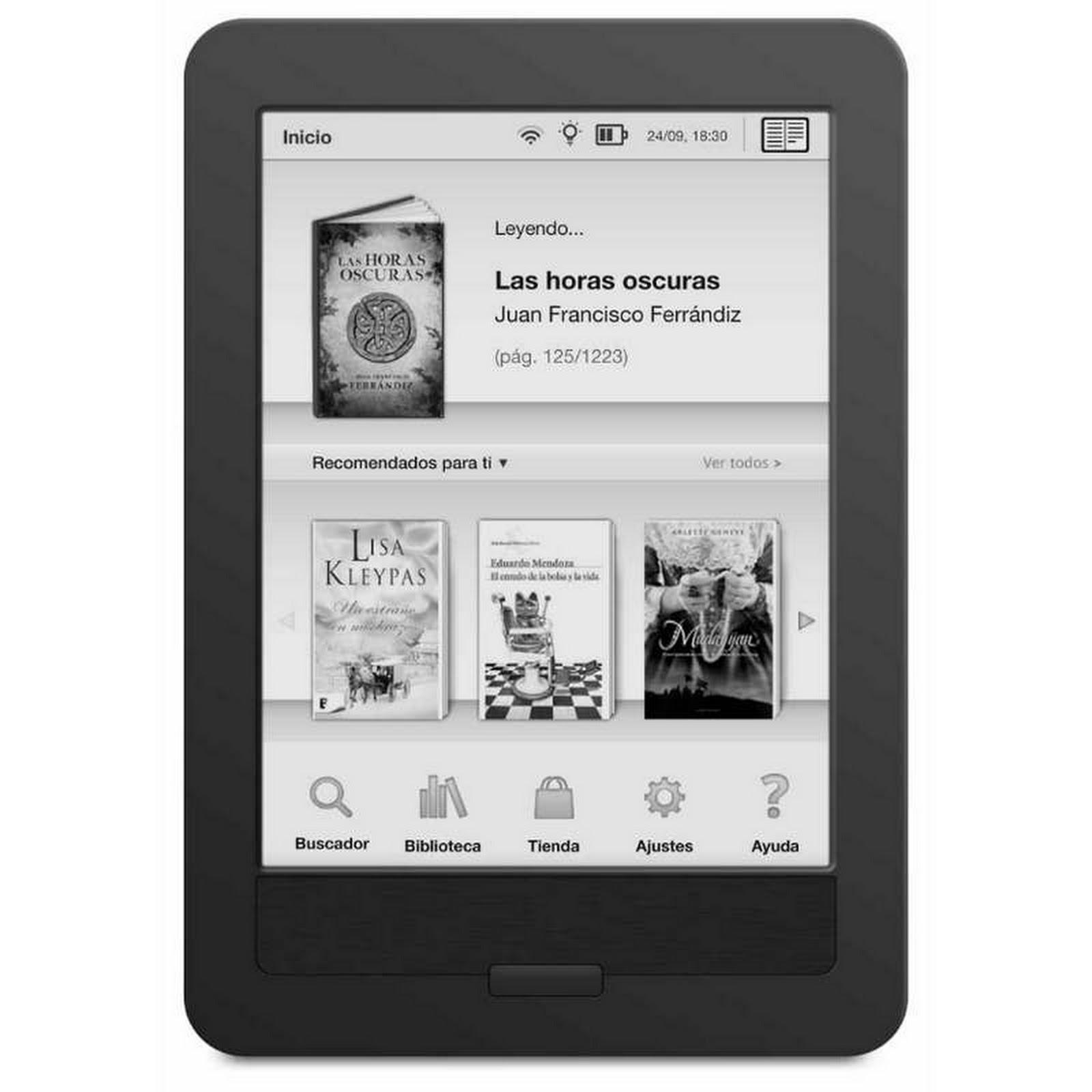 El mejor ebook con luz integrada