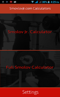 Smolov Squat Calculator- screenshot thumbnail
