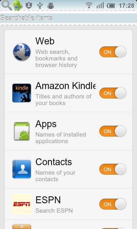Multi Search all applications- screenshot