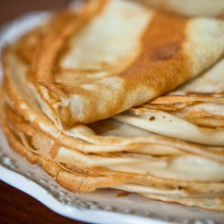 Blini (Pancakes) with Milk