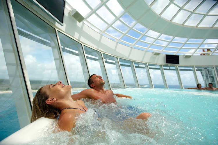 The Cant Whirlpool aboard Oasis of the Seas. Make sure you build downtime into your trip.