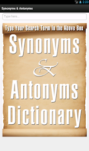 玩教育App|Synonyms and Antonyms免費|APP試玩