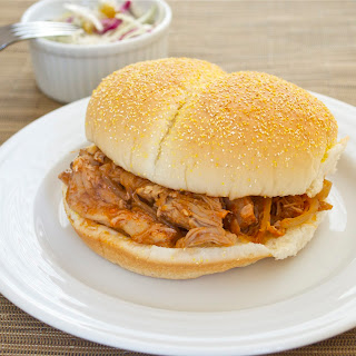 Pulled Pork Sandwiches with Smoky Orange Barbecue Sauce.