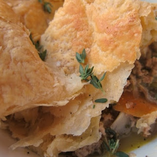 Rustic Turkey and Vegetable Pie.