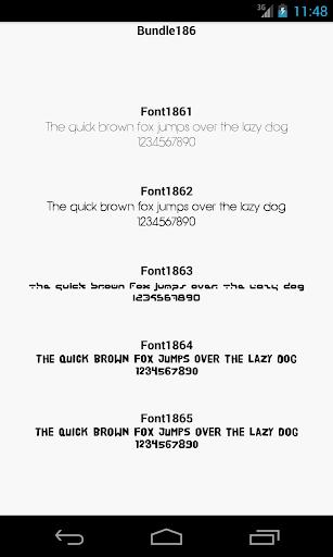 Fonts for FlipFont 186