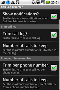 Call Log Trimmer- screenshot thumbnail