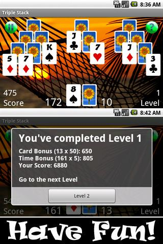 Triple Stack HD (Pyramids)- screenshot