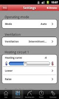 Screenshot of HeatPumpApp