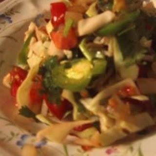 Cabbage, Tomato and Onion Salad.