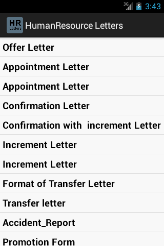 Human Resource Letters