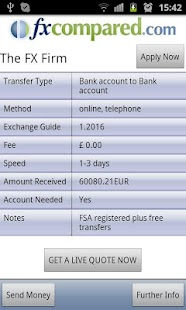 Currency Transfers Compared - screenshot thumbnail