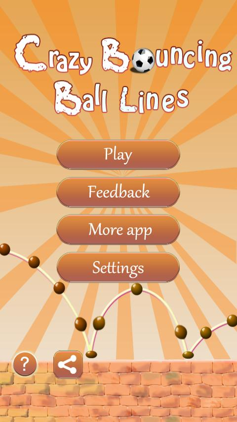 Crazy Bouncing Balls Line Game - screenshot