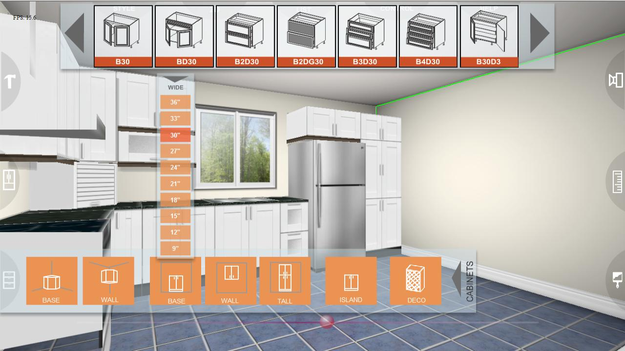 Udesignit kitchen 3d planner app android su google play for Kitchen remodel planner