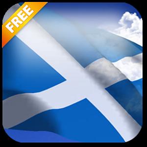 3D Scotland Flag