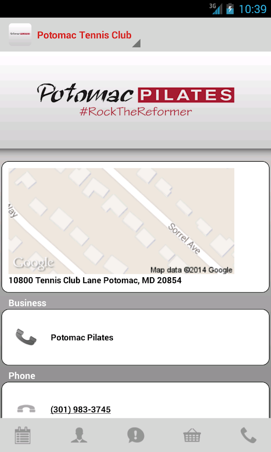 Potomac Pilates - screenshot